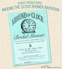around the clock bridal shower bnute productions around the clock bridal shower gift ideas for