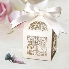 wedding favor boxes 120pcs groom ivory laser cut wedding favor boxes candy box