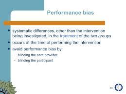 assessment of bias