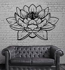 lotus flower buddha yoga studio meditation decor vinyl decal z2906 lotus flower buddha yoga studio meditation decor vinyl decal z2906