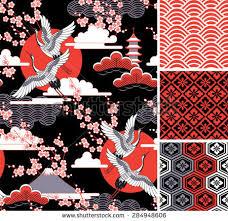 japanese pattern set seamless vector ornaments stock vector