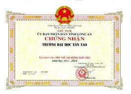 Dan K Hen Bằng Khen Của Chủ Tịch Ubnd Tỉnh Long An Cho Trường đại Học Tân