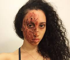 Halloween Makeup Burned Face by