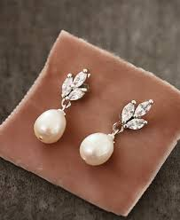 pearl earrings necklace images Beautiful brown wedding ideas you 39 ll love jewelery pinterest jpg