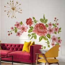 Beautiful Wall Stickers by Pink Flower Wall Decoration For Home Beautiful Wall Art Stickers