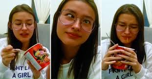 Challenge Viral Viral Liza Soberano Does The Spicy Noodle Challenge While