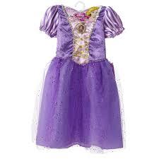 amazon com disney princess rapunzel sparkle dress with attached