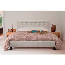 kensington queen size fabric bed frame in beige buy queen bed