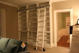 Library Bookcases With Ladder Do It Yourself Library Ladder