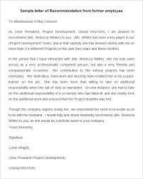 ideas of employment reference letter example for description
