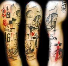 11 best skull and roses sleeve tattoo images on pinterest best