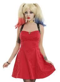 harley quinn costume spirit halloween dc comics squad harley quinn red dress topic