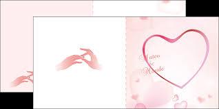 modele carte mariage dépliant 2 volets 4 pages modèle et exemple mariage carte