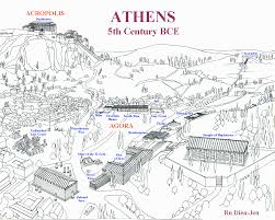 Athens Metro Map by Ancient Athens Map Athens U2022 Mappery