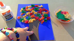 tissue paper scrunch fall tree youtube