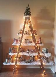 ladder christmas tree here s a lovely idea to do if you an ladder in the garage