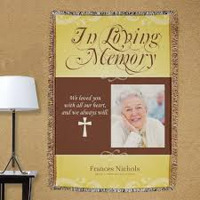 personalized in loving memory gifts personalized in loving memory photo throw blanket memorial gifts