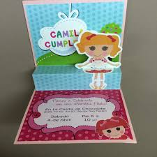 Lalaloopsy Invitation Cards Lalaloopsy Custom Designed Pop Up Invitation Made With Premium