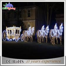 china outdoor 3d led reindeer with sleigh decoration