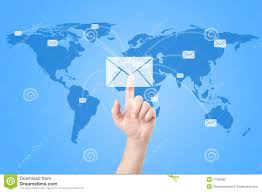 Mail Map Hands With World Mail Delivery On World Map Stock Photography