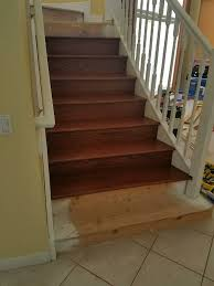 Stair Laminate Flooring Staircase Refinishing Real Hardwood Or Laminate Custom Finishing