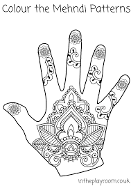 coloring pages henna art henna coloring pages mehndi hand colouring in the playroom arilitv