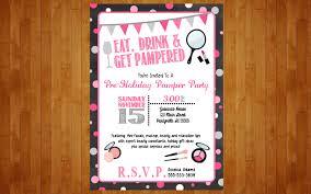 make up party invitation or lingerie bachelorette spa pamper