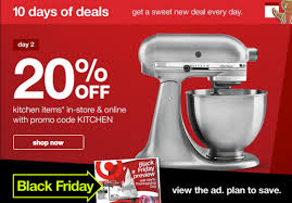target coupon black friday target u0027s 10 days of deals 20 off kitchen deals today only 11