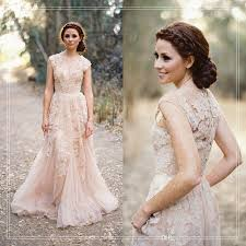 discount champagne lace country wedding dresses 2017 v neck short
