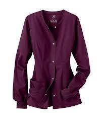 luxe snap front warm up scrub jacket scrubs beyond