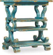 Teal Accent Table Hooker Furniture Living Room Sanctuary Rectangle Accent Table 5409