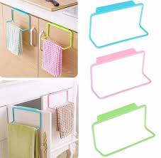 PCSLOT Over Door Tea Towel Rack Bar Hanging Holder Rail - Kitchen cabinet towel rack