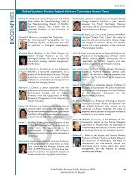 am agement petit bureau unified synthesis product federal advisory committee author team