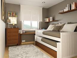 neutral grey bedroom paint ideas with white wooden trundle beds