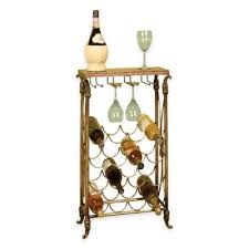 metal wine rack table buy glass wine racks from bed bath beyond