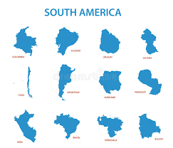 south america maps of countries vector stock vector image