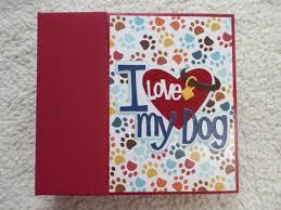dog scrapbook album 6x6 i my dog scrapbook album by simplymemories on etsy etsy