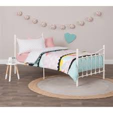Iron Single Bed Frame Buy Cora Classic Metal Single Bed Frame Ivory Graysonline