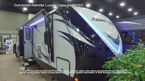dutchmen aerolite luxury class 319bhss youtube