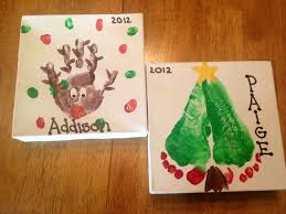 christmas handprints and footprint designs childrens crafts