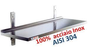mensola acciaio mensole mensola in acciaio inox mm 1200x400