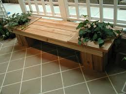 Garden Bench With Planters Benches Outdoor Plans Simple Home Decoration