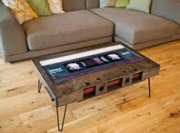unique coffee table cassette tape shape mixtape table