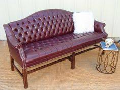 Camelback Leather Sofa by Reserved For Kk Camelback Chippendale Sofa Tufted Hollywood