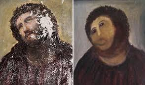 amateur restoration botches jesus fresco in spain public radio