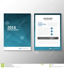 abstract blue vector annual report leaflet brochure flyer template
