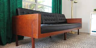 Mid Century Modern Settee Mid Century Modern Wood Case Sofa The Gathered Home