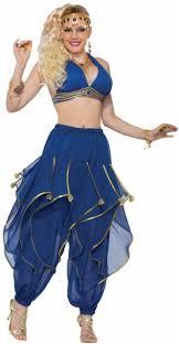 Belly Dance Halloween Costume Deluxe Harem Pants Genie Belly Dancer Womens Halloween