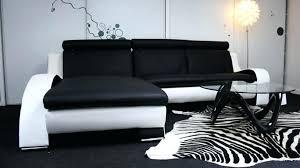 canape blanc noir canape d angle cuir noir et blanc canapac dangle cuir noir et blanc