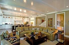 tan living room walls purple leather sofa grey fabric windows